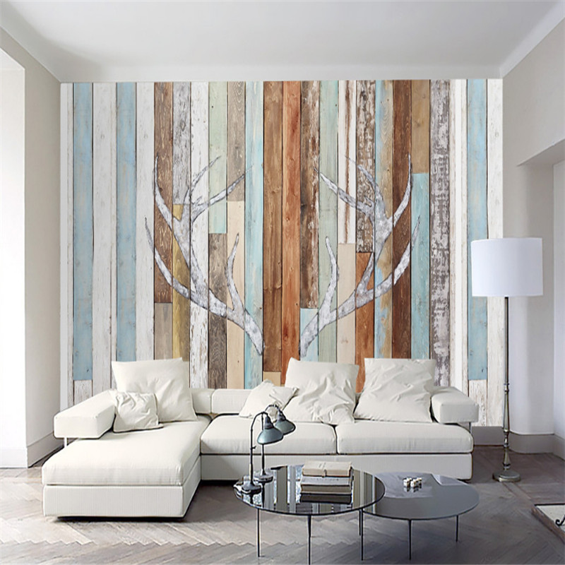 custom-made 3d mural, retro board character antler wallpaper, living room bedroom sofa TV 3d background wallpaper home decor managing projects made simple