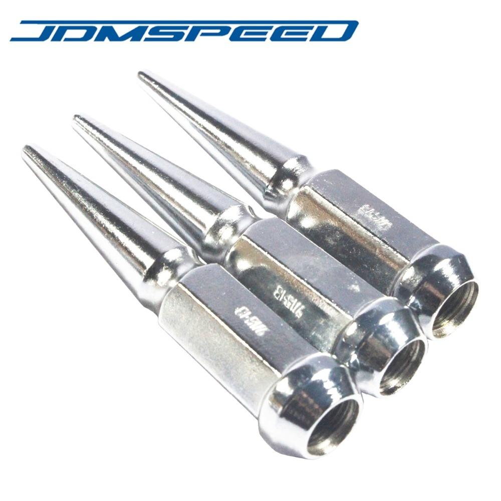 """Chrome JDMSPEED 32PCS Set Spike Lug Nuts 9//16/"""" For 1994-2011 Dodge RAM 2500 3500"""