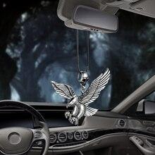 Metall Vintage Punk Adler Auto Innen Dekoration Anhänger Auto Rückspiegel Charme Hawk Decor Hängende Ornamente Zubehör