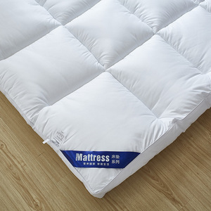 Image 3 - 5CM Thickness Feather Down Hotel Mattress Solid Microfiber Filling Single Double Twin Queen King Size Sleeping Mattress