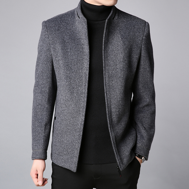 Winter Coat Men Slim Fit...