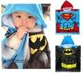 100% algodão Crianças Toalha de Banho Com Capuz Crianças Superman batman Manto Toalha de Praia