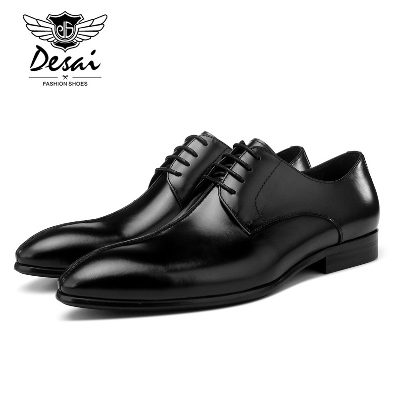 2019 Spring New Pointed Mens Genuine Leather Shoes Top Layer Leather England Dress Shoes Business Formal Shoes Great Design2019 Spring New Pointed Mens Genuine Leather Shoes Top Layer Leather England Dress Shoes Business Formal Shoes Great Design