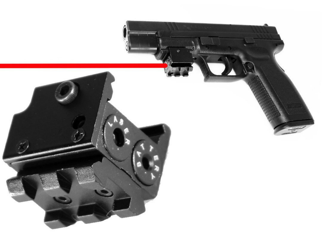 Mini Red Dot Laser Sight Scope for hanguns/ pistols.Laser is built with your arms