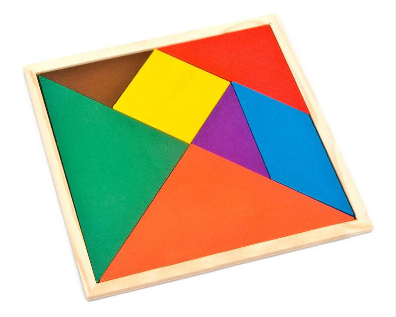 Children Mental Development Wooden Triangle Jigsaw Puzzle Educational Toys For Kids