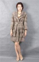 natural mink coat fur of grey,turn-down collar,3/4 sleeve,2016 woman new fashional mink fur coat natural