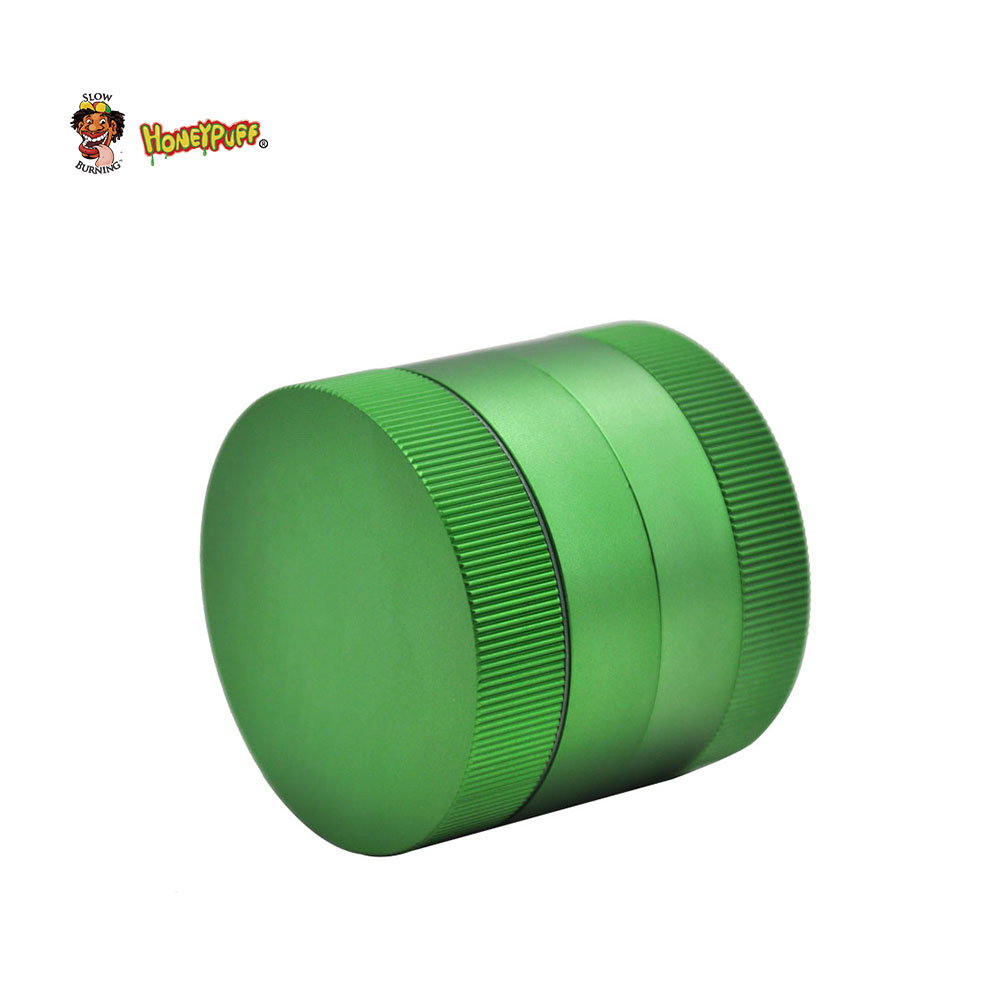HONEYPUFF Premium Zinc Herb Grinder 56 MM 3 Layers Tobacco Grinder With Storage Sharp Diamond Teeth Herbal Pollen Crusher Miller