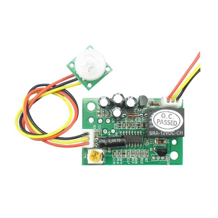 1pcs TD 12V DC Human Body Motion Sensor Module Switch Board Infrared Sensor,size  45 x 30 x 20mm hc sr501 human body pyroelectricity infrared sensor module green white