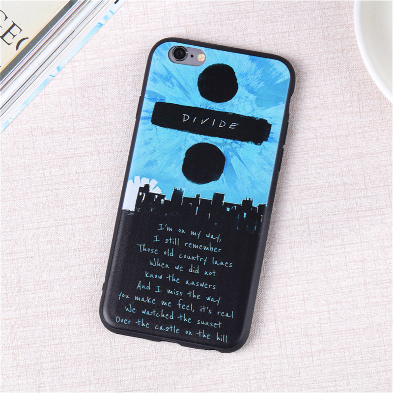 Fashion Ed Sheeran Al Divide Soft Slim Coque Cover For Iphone 6 6s 5 5s Silicone Ultra Thin Phone Case Shell 7 8 In Cases From