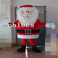 Ohlees plush santa old man Mascot Costume Halloween Christmas Birthday Props Costumes For Adult cartoon animal customize