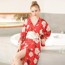 Сексуальный женский длинный халат с карманом для свадьбы, невесты, подружки невесты, халат кимоно из вискозы Ночная Пижама-кимоно