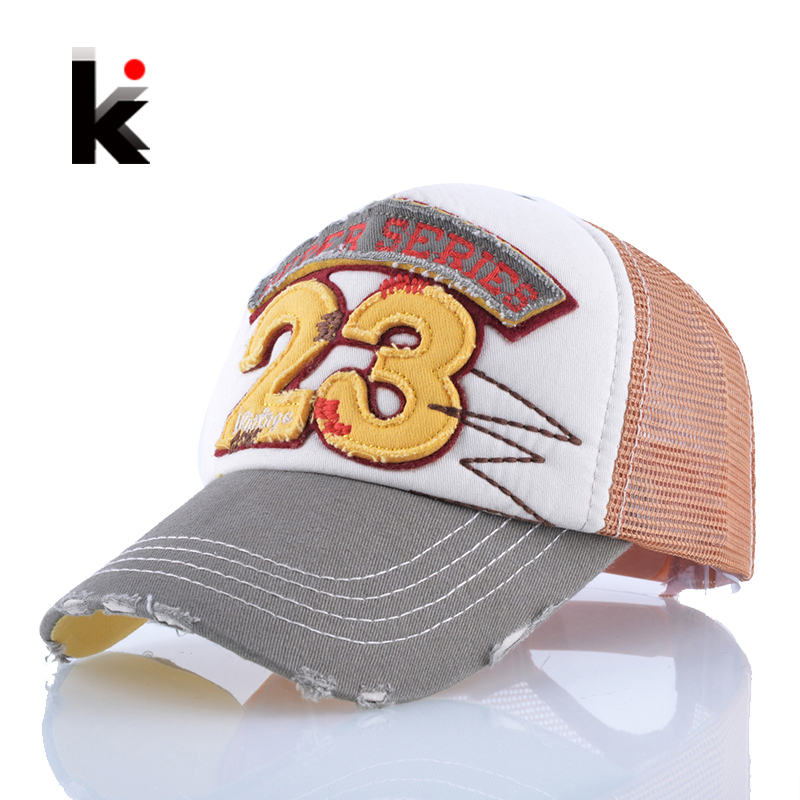 Пролетни и летни дамски шапки 23 Писма Дишаща мрежа Бейзболна шапка Snapback Drake Hat Outdoors Casual Sun Caps Touca For Girl