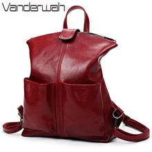 VANDERWAH Hot 2017 Women Backpack High Quality PU Leather Sac A Main School Bags For Teenage Girls Shoulder bags Student Package