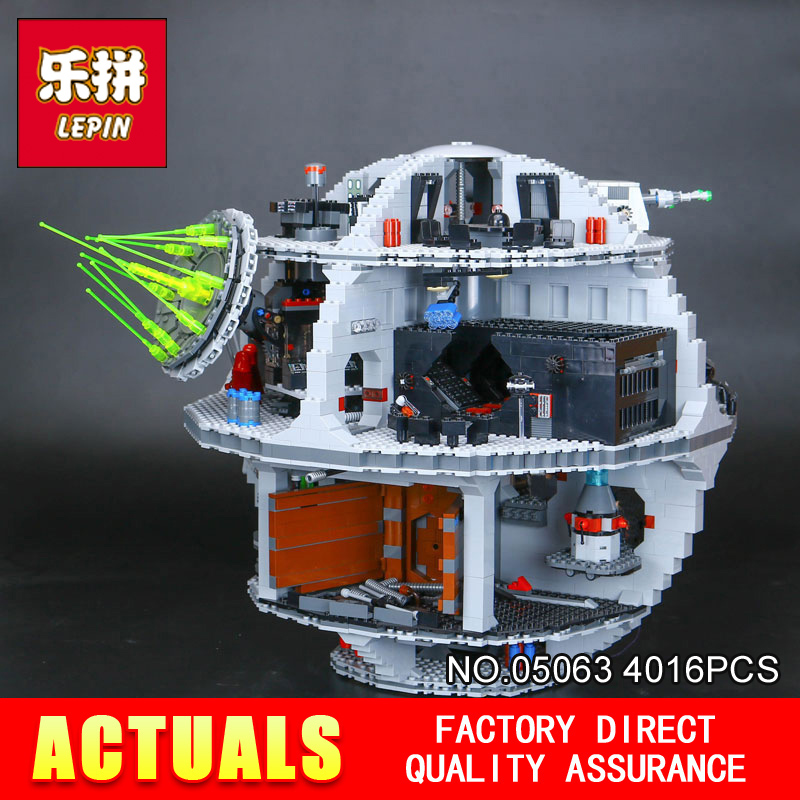 LEPIN 05063 Star Classic Model Wars Building Blocks 4016pcs Death UCS Star Building Block Bricks Toys Kits Compatible with 75159 lepin 22001 pirate ship imperial warships model building block briks toys gift 1717pcs compatible legoed 10210