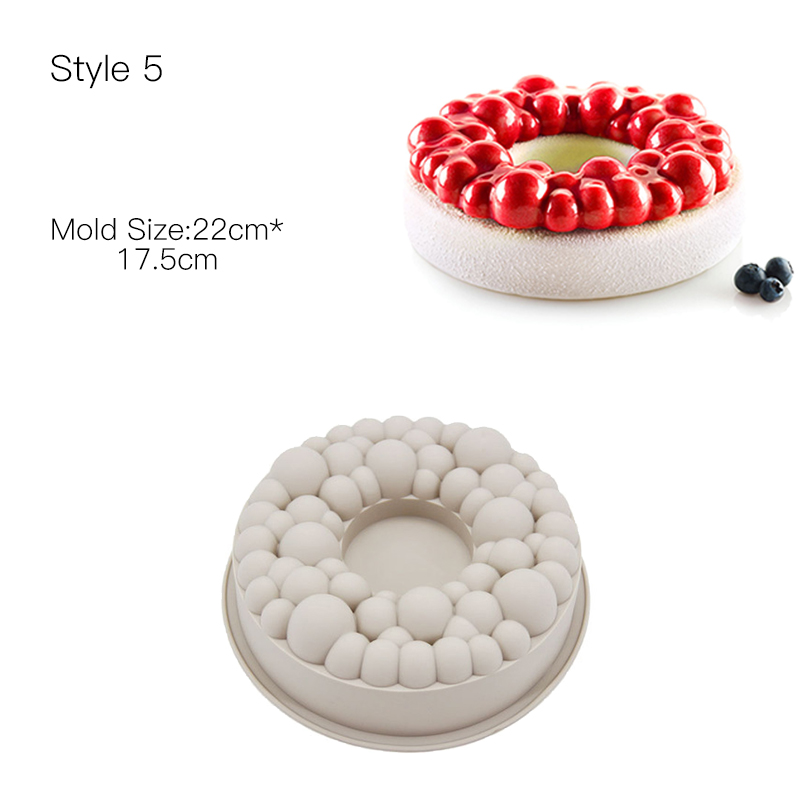 Cake Decorating Mold 3D Silicone Molds Baking Tools For Heart Round Cakes Chocolate Brownie Mousse Make Dessert Pan in Cake Molds from Home Garden