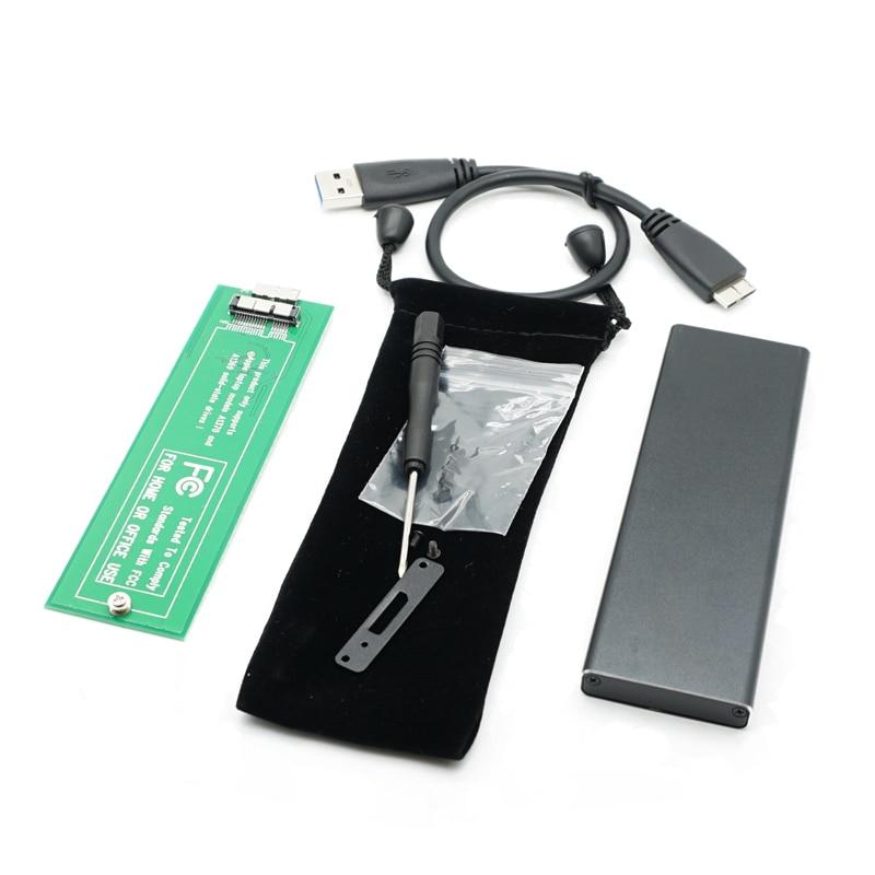 USB3.0 To 6 12 Pin SSD Hard Disk Enclosure Adapter For 2010 2011 MacBook Air A1370 USB 3.0 To 6+12pin Protecting Bag