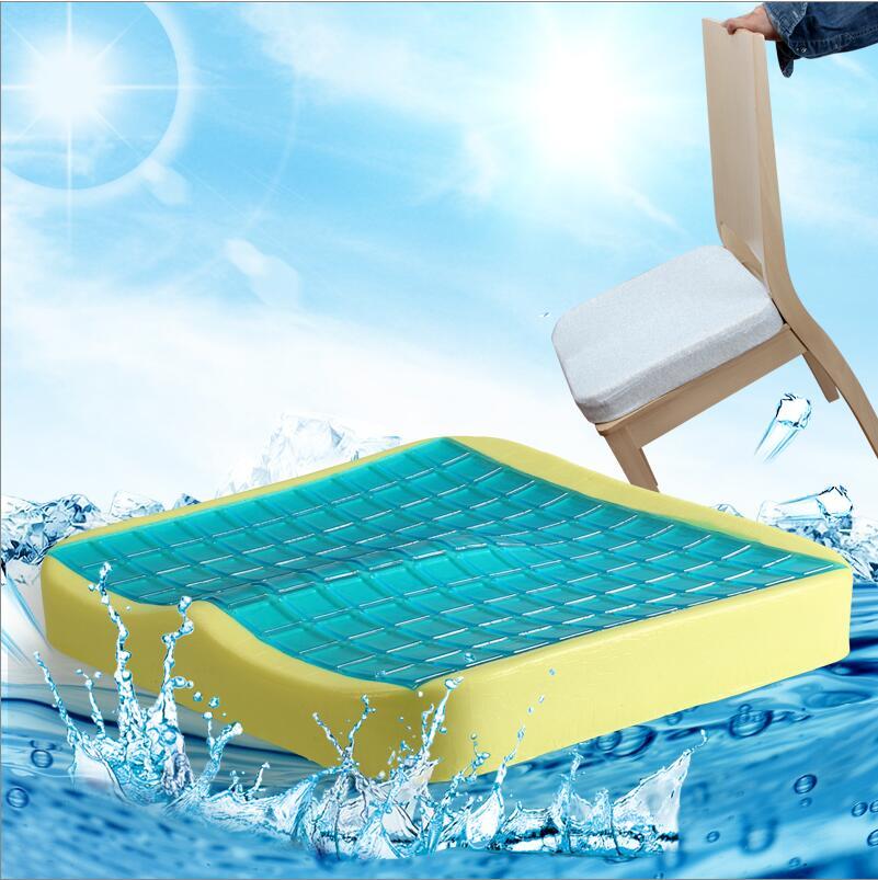 Chauffe-insenstive Bus pilotes chaise de bureau Coccyx orthopédique Gel coussin de siège Silicone mémoire mousse refroidissement siège de voiture coussin