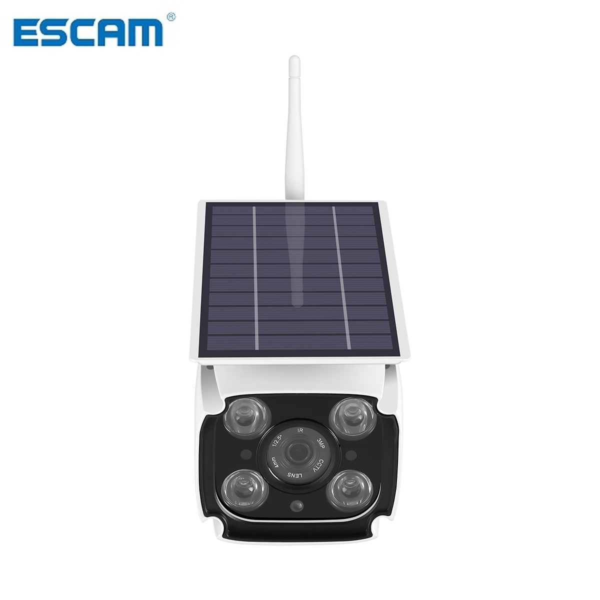 ESCAM QF260 IP67 1080P HD Solar Powered Wireless WIFI IP Surveillance Camera Night Vision Outdoor-in Surveillance Cameras from Security & Protection    1