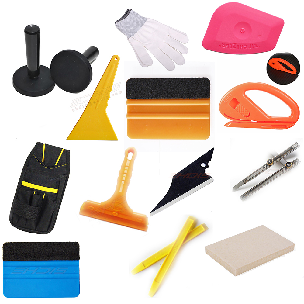 Dedicated Ehdis 13pcs Vinyl Film Car Wrap Window Tints Tool Kit Tool Bag Felt Squeegee Scraper Magnet Holder With Cutter Knife Blade Profit Small