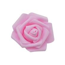 50pcs/lot 6cm Artificial Foam Roses Head PE Rose Flower for Wedding Home Festival Decorative Flowers DIY Wreaths Craft