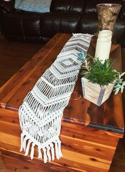 Macrame table runner-Christmas runners handmade boho style wedding runners BEIGE COLOR customized size home deocration