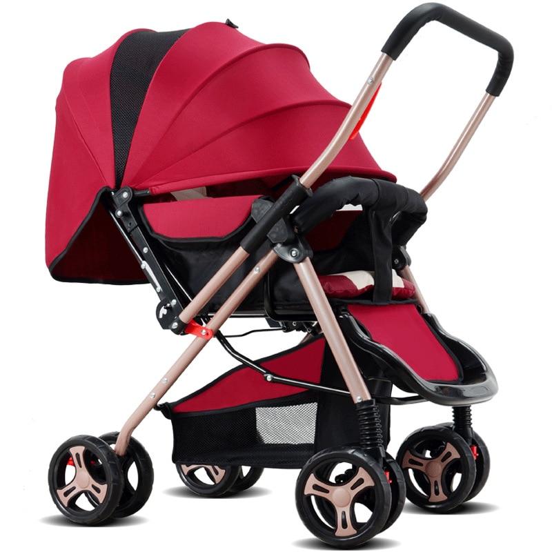 Stroller, Light Seat, Reclining Umbrella, Super Portable Folding Child Cart, Four Wheeled Bb Baby Stroller baby car cart child cart summer car umbrella portable folding pocket bike light