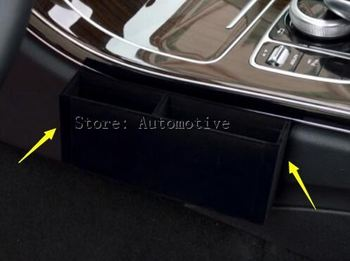 Inner Gear Shift Side Storage Box Holder For Mercedes Benz C Class W205 2014-2015 1pcs