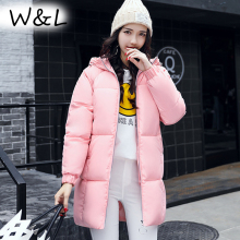 Фотография 2017 Parkas Jackets Women Winter Coat Thick Female Oversized Casual Long Down Cotton Warm Outerwear Fashion Overcoat
