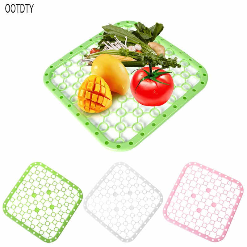 多機能シリコーンテーブルプレイスマット野菜料理シンク乾燥ラック排水ボードマットビッググリッドキッチン絶縁パッド