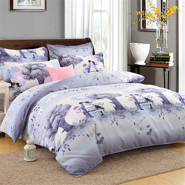 1 Piece Soft Brushed Cotton Bedding Sheet Thick Warm Sheets For Mattress Beautiful Printed Flat Bed