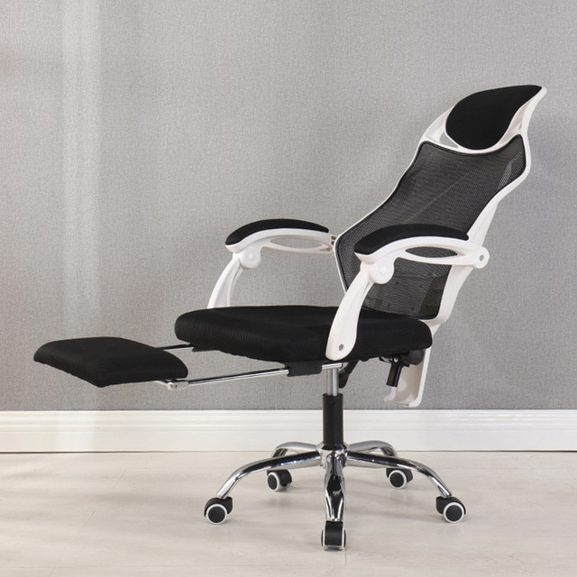 office recliner chairs. Ergonomic Computer Desk Office Mesh Recliner Chair With Footrest Headrest Perfect For Home Furniture Swivel Chairs C