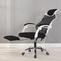 Ergonomiczne biurko komputerowe biurowe siatkowe krzesło z podnóżkiem zagłówek idealny do meble do domowego biura obrotowy fotel wyścigowy