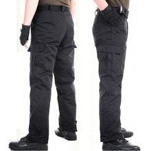 Hot 2017 Outdoor Spring Autumn Sport Multi-Pocket executive Commando men loose tactical combat trousers black Hiking Pants Men