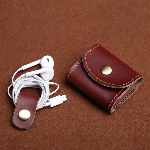 Vintage Coin Bag Man Women Genuine Leather Handmade Fashion 2018 Coin Purses Wallet Headphones Key Holder Pocket Bag Case Islamabad