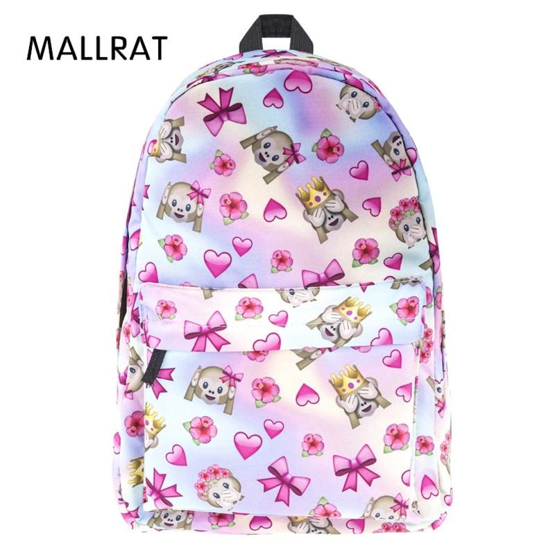 купить MALLRAT Fashion School Japan and Korean Preppy Style Rucksack Girls Cute Style Schoolbag High Quality Backpack For Teenager недорого