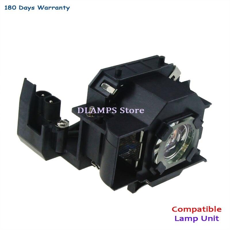 V13H010L34 ELP34 교체 용 프로젝터 램프 램프 Epson EMP-62 용 EMP-62C EMP-63 EMP-76C EMP-82 EMP-X3 (180 일 보증)