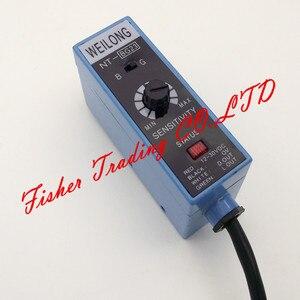 Image 2 - NT BG22 de capteur de weilong de code couleur NT BG23 pour des machines à emballer, source lumineuse de commutateur photoélectrique en métal ajustée/bleu et vert