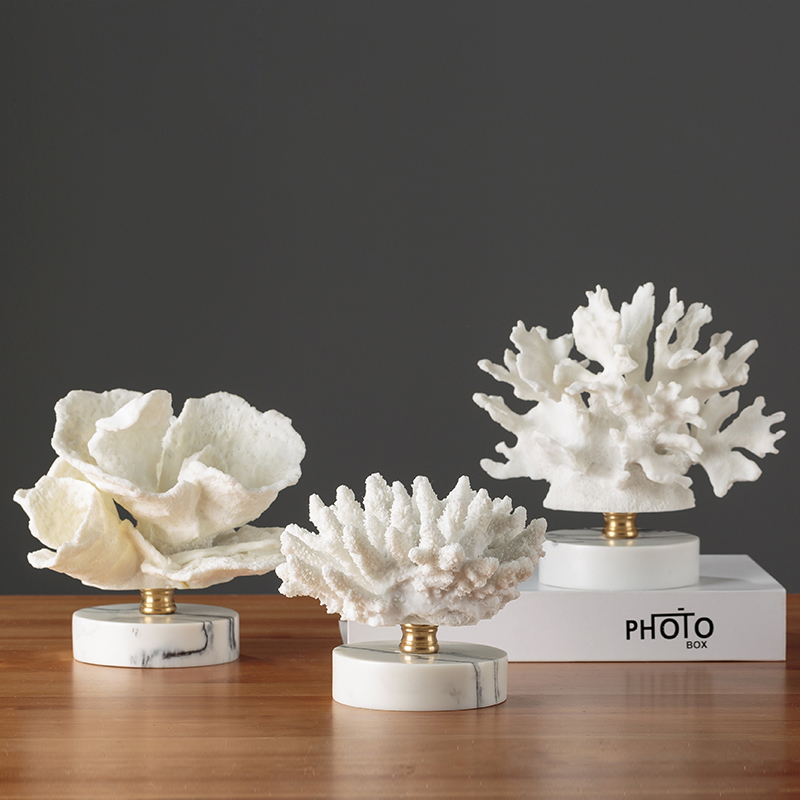 Nordic style creative coral ornaments home decoration cafe restaurant decoration living room TV cabinet home decoration crafts