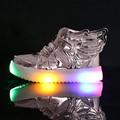 Crianças shoes com luz 2017 led new shoes para crianças iluminado led piscando shoes crianças moda da menina do menino asas brilhando Sneakers