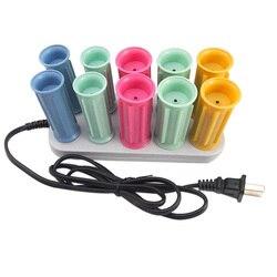 10 pièces/ensemble sèche/humide cheveux bigoudi électrique magique cheveux bigoudi rouleaux Bendy rouleau bâtons Set outils de coiffage cheveux bigoudi Us Plug