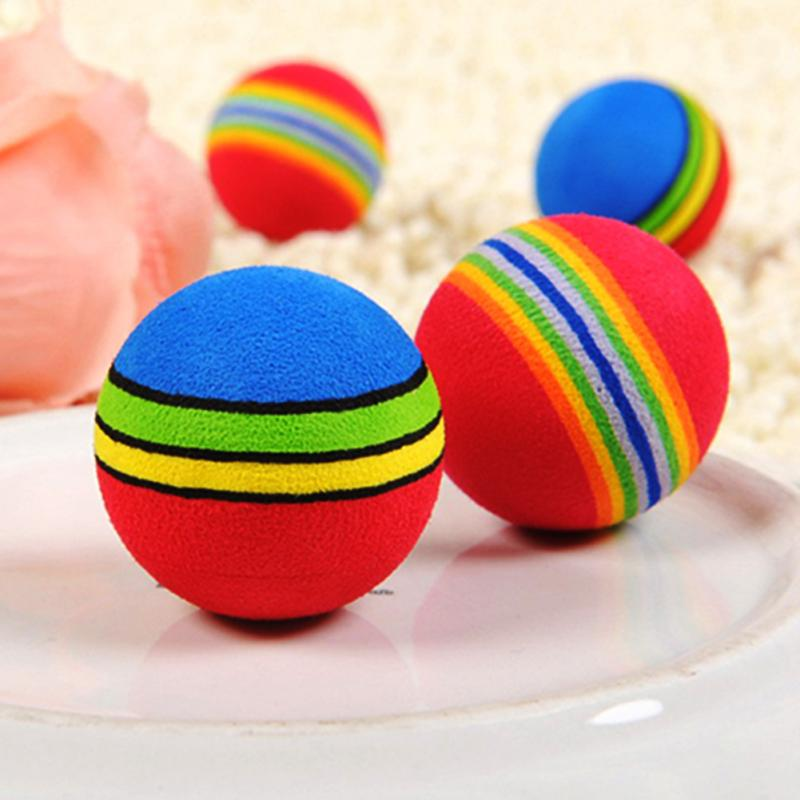 3.5cm  Rainbow Color EVA Material Ball Foam Sponge Children's Toys Kids Funny Toy Balls