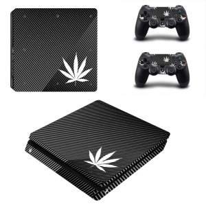 Image 2 - Pure White Green Leaf Weed PS4 Slim Skin Sticker Decal Vinyl for Playstation 4 Console and 2 Controllers PS4 Slim Skin Sticker