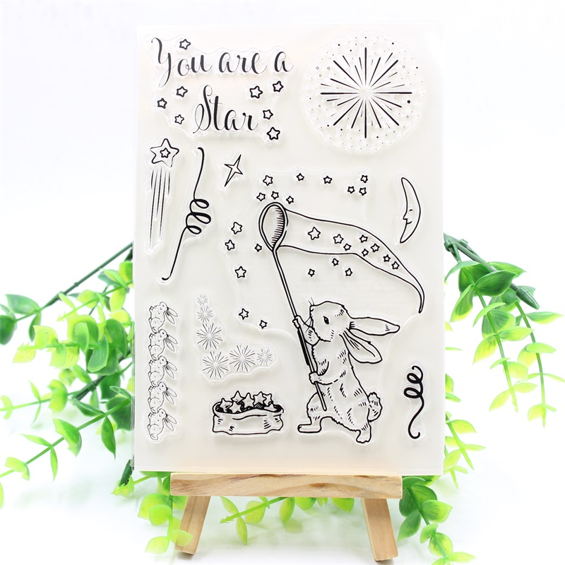 YPP CRAFT You Are A Star Transparent Clear Silicone Stamps for DIY Scrapbooking/Card Making/Kids Fun Decoration Supplies