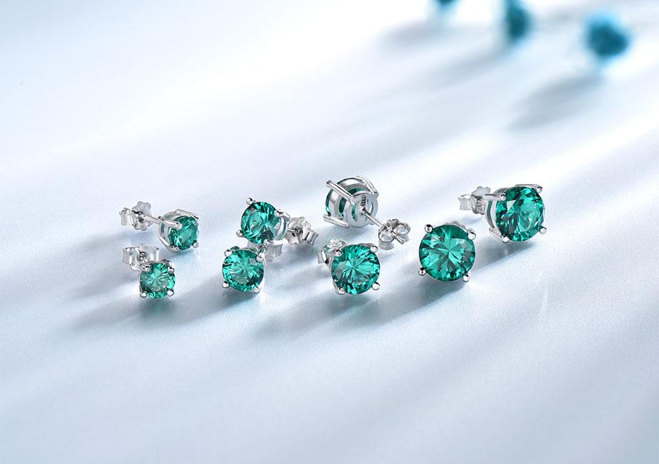 Honyy-Emerald-925-sterling-silver-stud-earrings-for-women-EUJ002E-1-PC_04-0