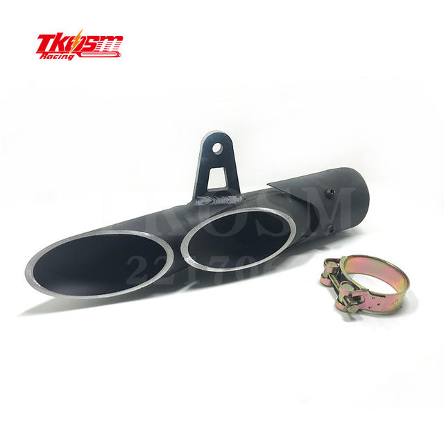 TKOSM  Motorcycle Exhaust Muffler  Double Down Slip-On For R6 2006~2016   Most Country Ship