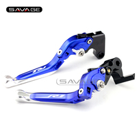 For YAMAHA YZF R1/R1M/R1S YZF-R1M YZFR1 2015-2016 Blue Motorcycle Adjustable Folding Extendable Brake Clutch Lever logo R1