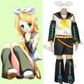 El envío gratuito! VOCALOID Kagamine RIN uniforme traje 2 trajes de cosplay