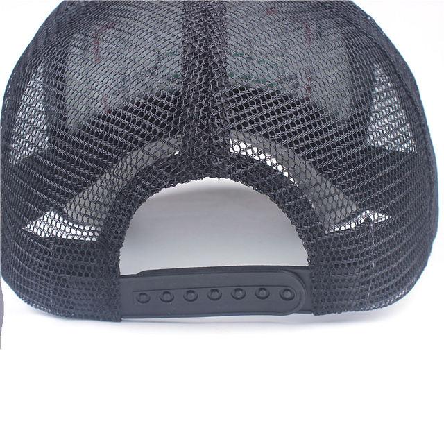 Embroidery Mesh Cap Hats for Men Women