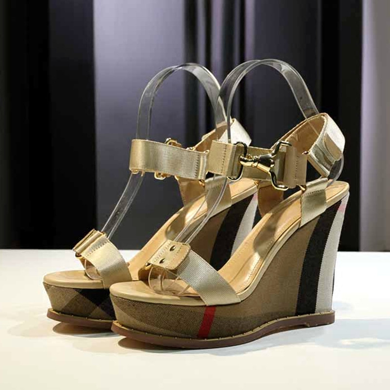 Rivets Wedges Shoes Woman Buckles Rome Gladiator Sandals High Heels Summer Sandalias Platform Shoes Lady Zapatos Mujer Shoes 40 2016 new style sandals women shoes woman summer wedges platforms and open toed high heels boots sandalias zapatos mujer