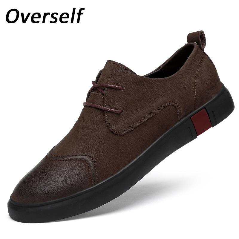 Spring New Loafers Men's Casual Shoes Lace-up Moccasin Cow Genuine Leather Handmade Flats Zapatos Hombre Big Size Eur 45 46 guvoosm new autumn full genuine leather women flats female lace up loafers casual handmade rubber shoes woman big size 36 43
